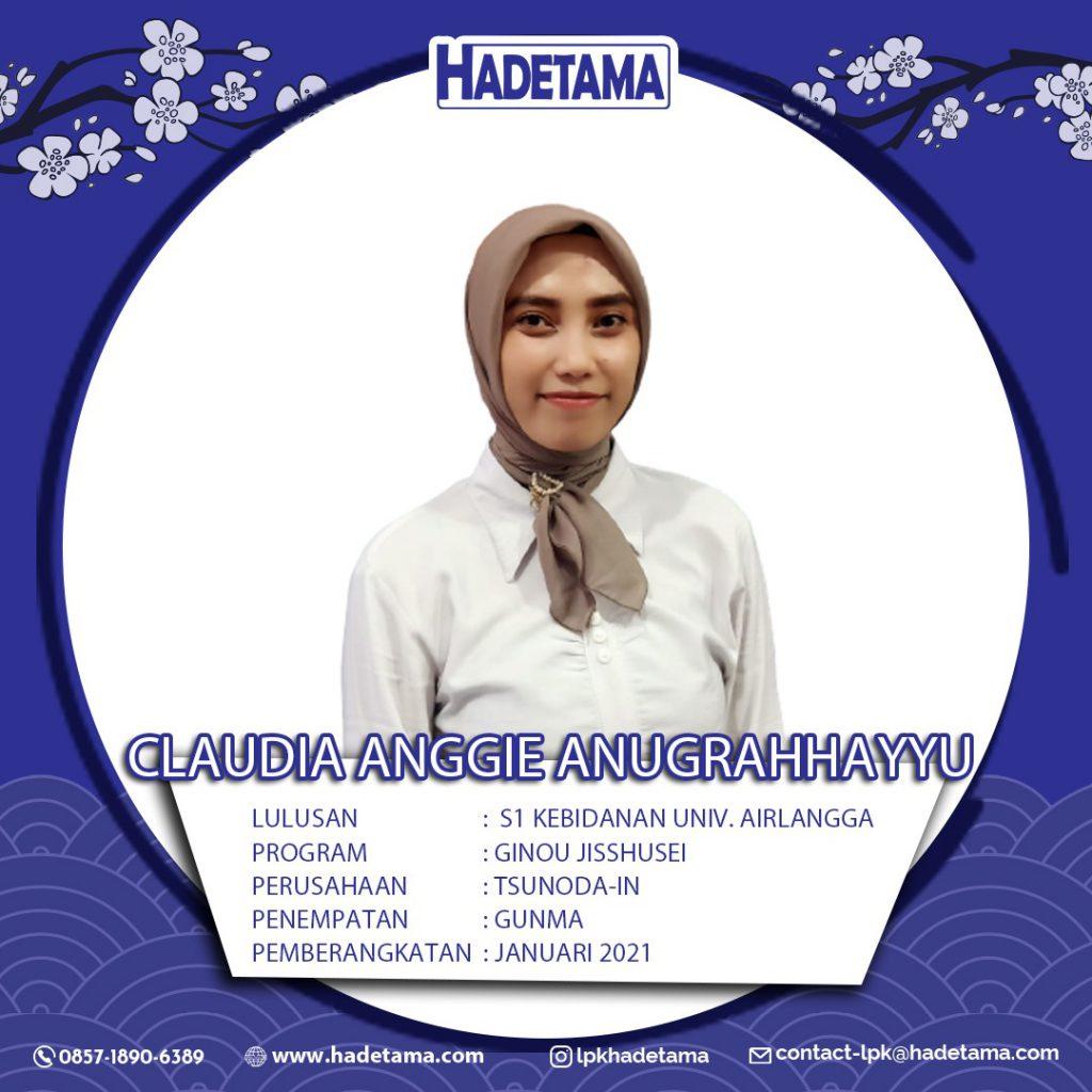Claudia Anggie Anugrahhayyu Universitas Airlangga S1 kebidanan