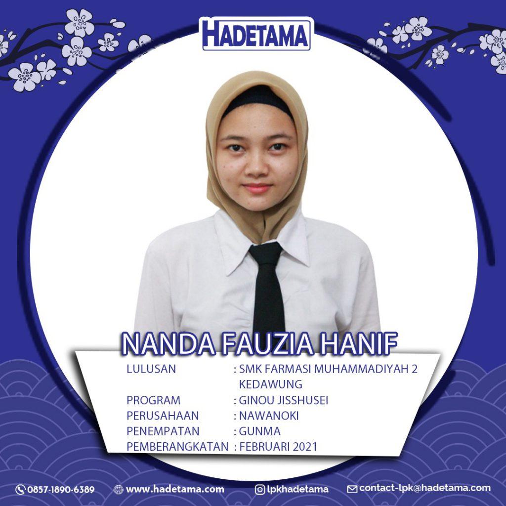 Nanda Fauzia Hanif SMK Farmasi Muhammadiyah 2 Kedawung